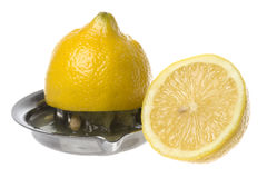Lemon and Squeezer Isolated Stock Photos