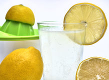 Lemon squeezer with organic lemons on the side Royalty Free Stock Photo