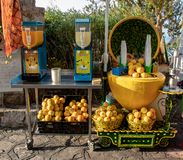Lemon Stand Along the Amalfi Coast royalty free stock image