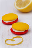 Lemon strawberry marron cokies Stock Images