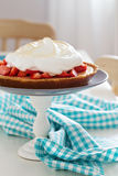 Lemon strawberry meringue pie Royalty Free Stock Images