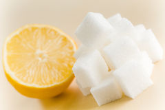 Lemon with sugar Royalty Free Stock Photos