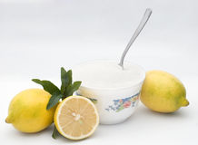 Lemon and sugar Stock Photos