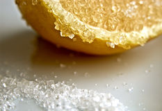 Lemon with sugar Royalty Free Stock Images