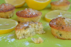 Lemon sugar and basil cakes Stock Photography
