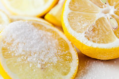 Lemon with sugar Royalty Free Stock Photo