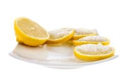 Lemon with sugar Stock Photography