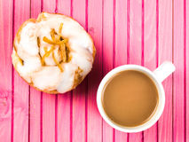 Lemon and Sultans Danish Pastry Bun Royalty Free Stock Images