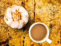 Lemon and Sultans Danish Pastry Bun Royalty Free Stock Photography