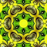 Lemon sun star mandala, spring yellow green mandala. Lemon sun star mandala, spring mandala vector illustration