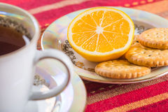 Lemon and sweet biscuits with poppy seeds Stock Image