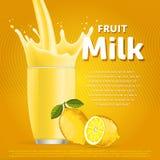Lemon sweet milkshake dessert cocktail Royalty Free Stock Images