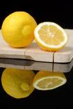 Lemon on a table Stock Photos