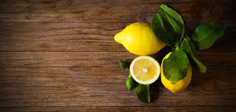 Lemon  on table Stock Image