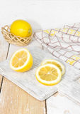 Lemon on the table Royalty Free Stock Photo