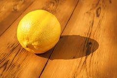 Lemon on table Stock Image