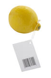 Lemon. Tag for sale on a white background Royalty Free Stock Image