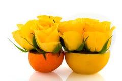 Lemon and tangerine Stock Image