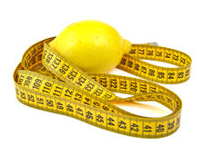 Lemon and tape measure Royalty Free Stock Image