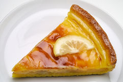Lemon tart (1) royalty free stock photos