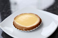 Lemon tart. In a cafe Royalty Free Stock Photography