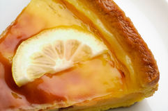 Lemon tart closeup (2) Stock Photography