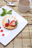 Lemon tart with coffee Royalty Free Stock Images