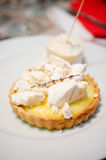 Lemon tart royalty free stock photos