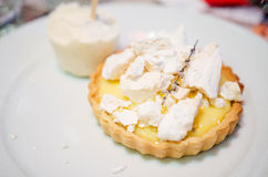 Lemon tart stock photography