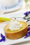 Lemon tart dessert Royalty Free Stock Image