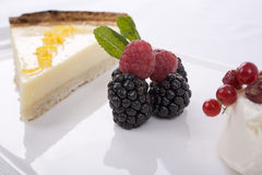 Lemon Tart and Fruit Royalty Free Stock Photo