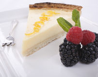 Lemon Tart and Fruit Royalty Free Stock Image