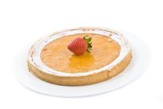 Lemon Tart Isolated on White Royalty Free Stock Image