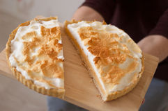 Lemon tart or lemon pie Royalty Free Stock Photography