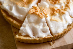 Lemon tart or lemon pie Royalty Free Stock Photo
