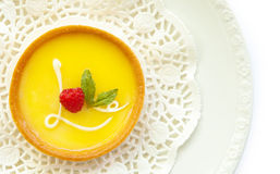 Lemon Tart With Love Icing Stock Photo