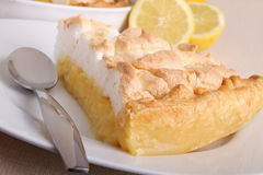 Lemon tart meringue Stock Image