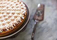Lemon tart pie with meringue topping Royalty Free Stock Image