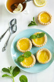 Lemon Tart. Top view Stock Images