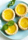 Lemon Tart. Top view Royalty Free Stock Image