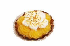 Lemon tart with whipped cream Stock Images