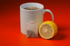 Lemon and tea Royalty Free Stock Photography