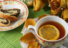 Lemon tea. Delicious aroma of lemon tea Royalty Free Stock Photo