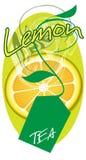 Lemon tea. The element of advertising design package lemon tea Stock Photos