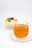 Lemon tea. On white background Royalty Free Stock Image