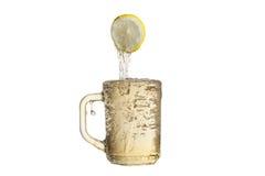 Lemon and tea. Royalty Free Stock Photography