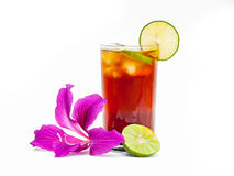 Lemon tea. A lemon tea on isolate background Stock Photos