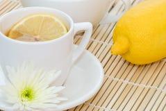 Lemon Tea. Cup of refreshing lemon tea Stock Images