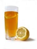 Lemon tea. White background royalty free stock photos