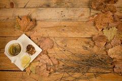 Lemon tea background Royalty Free Stock Image